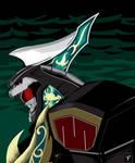 Gouryujin aka Dragonzord in Fight. Mode