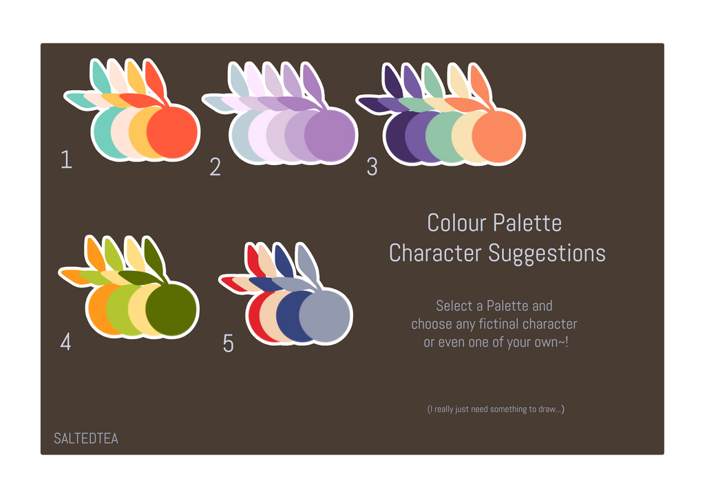 Colour Palette Character Suggestions Open By Saltedtealeaves On