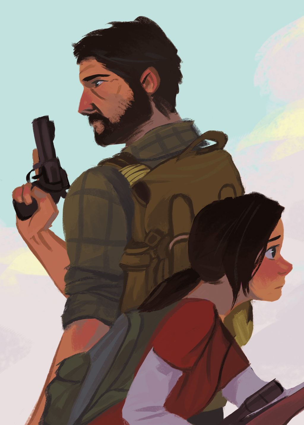 Ellie and Joel by russell-o on DeviantArt