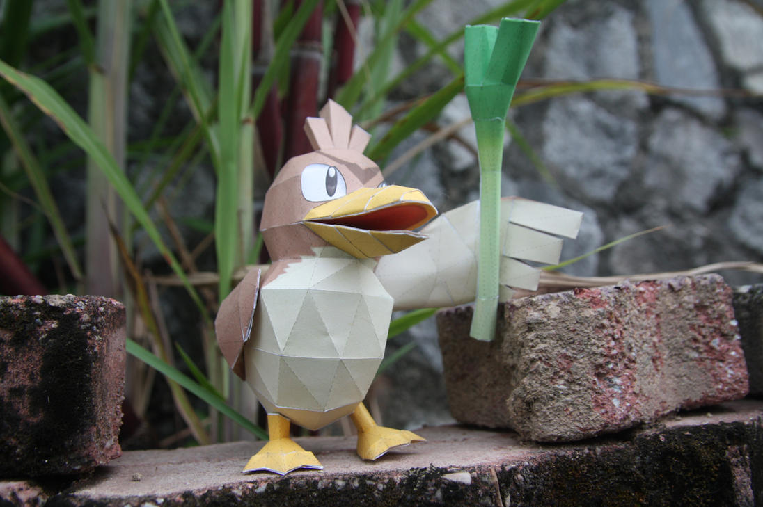 Farfetch'd Papercraft by eXaLpHaXe