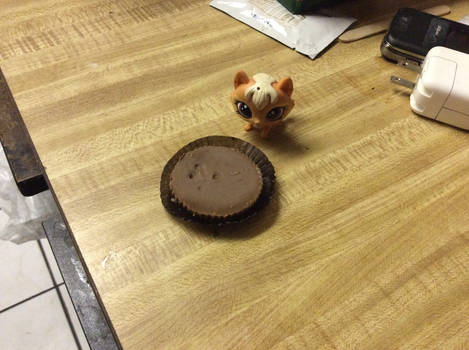Me with Reese's peanut butter cup:3