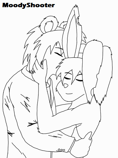 Request Lineart: Newly Weds by MoodyShooter