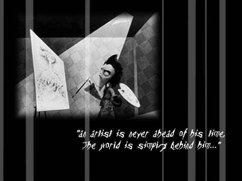 Tim Burton wallpaper by Psycho-Goth-Bunny on DeviantArt