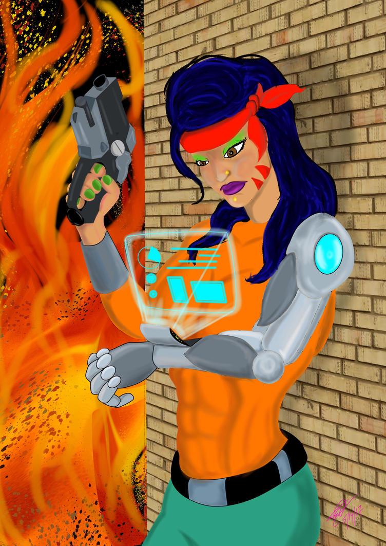 Cyber Chica by TommyEddy83