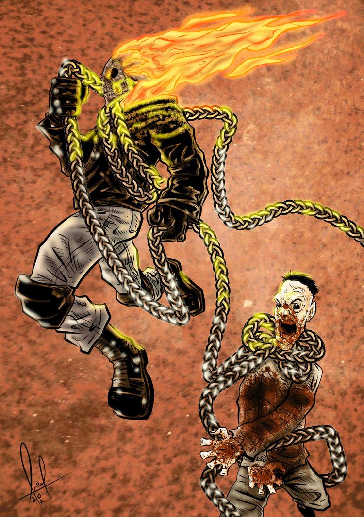 Ghost Rider SoV Vampire Hunter color by azzh316