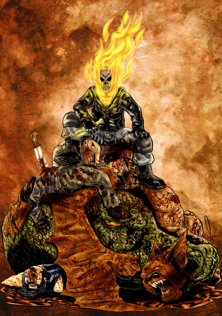 Ghost Rider Hail To The King Color by azzh316
