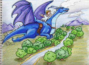 Saphira Flying by LauraDoodles