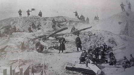 Prussian Howitzers At Dybbol