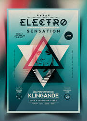 Electro Poster Template Vol. 7 by IndieGround
