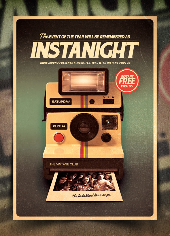 Retro poster template vol 8 by indieground on deviantart retro poster template vol maxwellsz