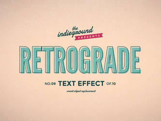 Retro Vintage Text Effect No.9 by IndieGround