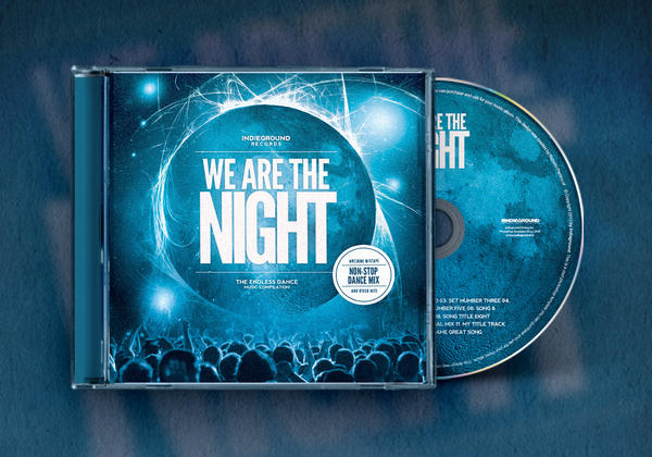 Nightclub CD Album Artwork Template Vol.1 by IndieGround