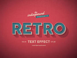 Retro Vintage Text Effect No.11
