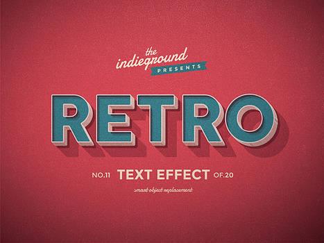 Retro Vintage Text Effect No.11