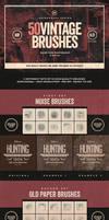 50 Vintage Photoshop Brushes Set Vol.1