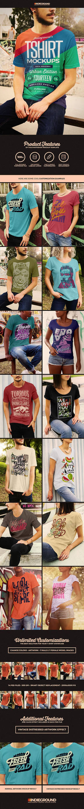 Urban T-shirt Photoshop Mockups