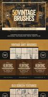 50 Vintage Photoshop Brushes Set Vol.3