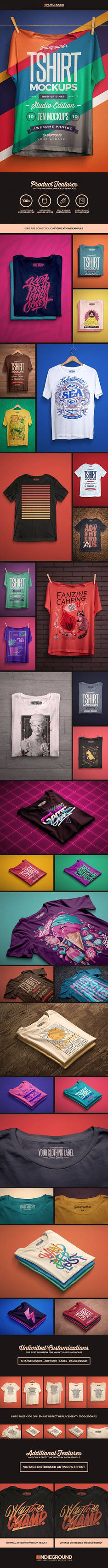 Studio T-shirt Photoshop Mockups