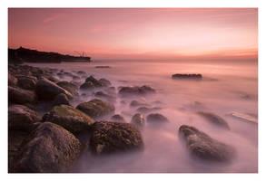 Fiery Sunrise over Red Crane by Neutron2K