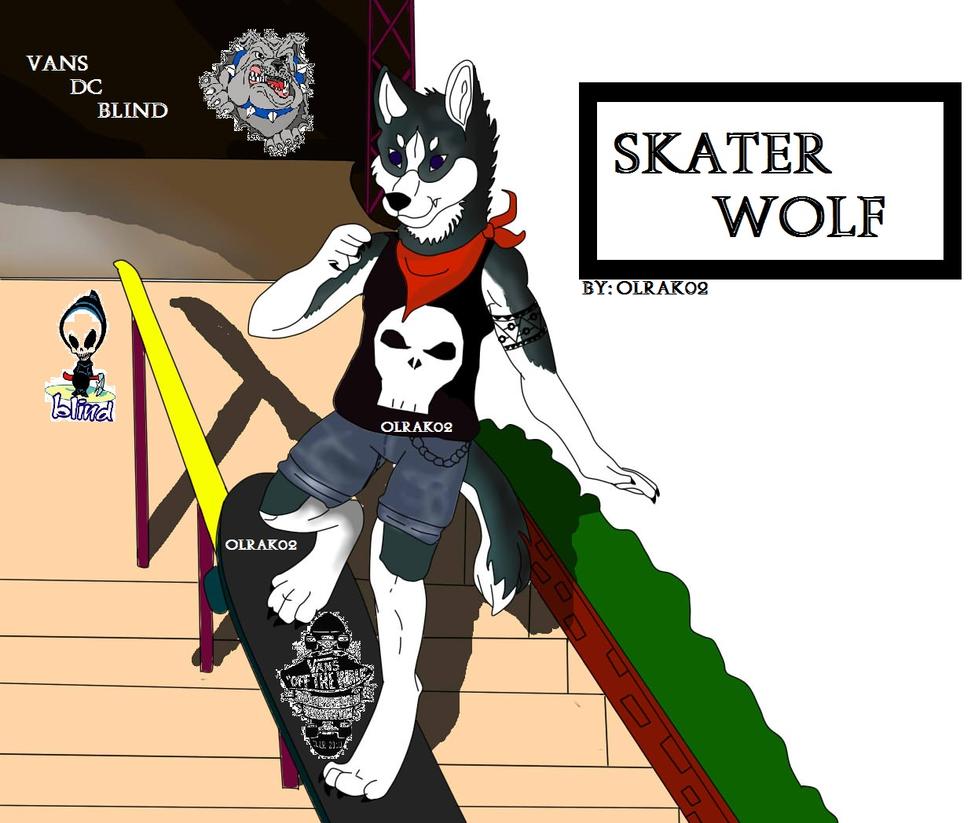 Skater Wolf by olrak02