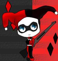 Harley Quinn chibi by olrak02