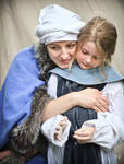 Medieval mother and daughter