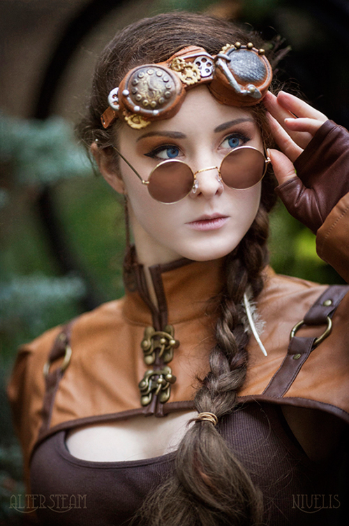 Blue Eyes Steampunk by Nivelis