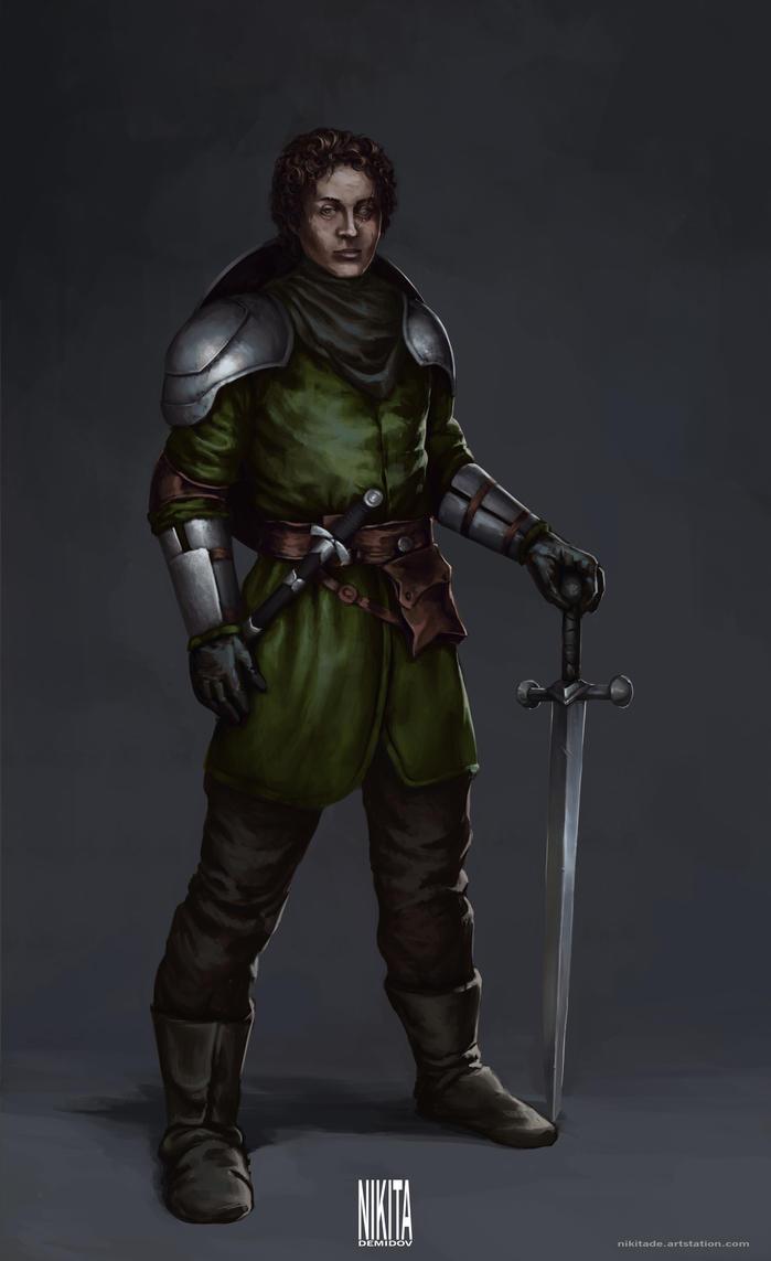 Young knight by NikitaDemidov