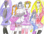 Bleach Ladies Ready to Party by ArtistOtaku91