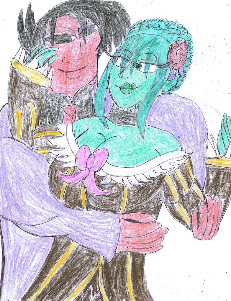 Warlock and Witch love by ArtistOtaku91