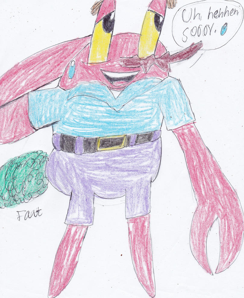 Mr. Krabs is gassy by ArtistOtaku91