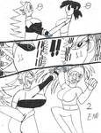 DBFZ: Majin vs Sayian by ArtistOtaku91