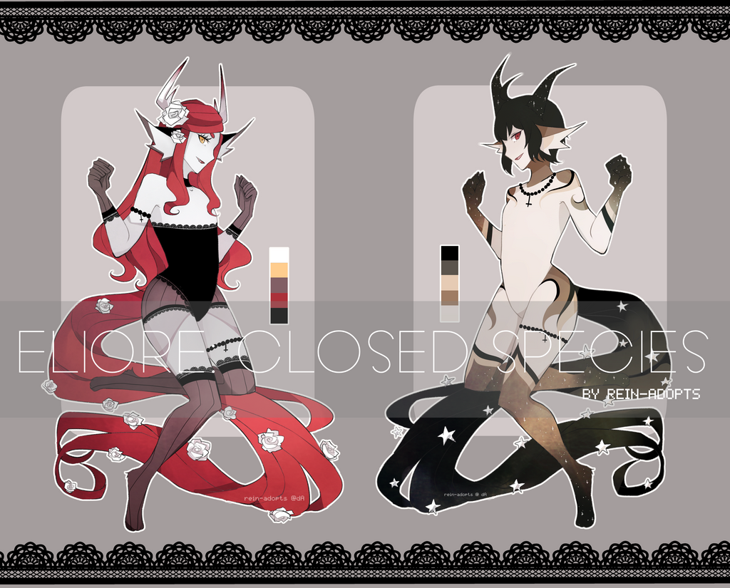 [CS: ELIORE] Dark Duo [CLOSED] by rein-adopts