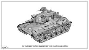 M60A2 Patton Tank Sketch