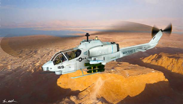 USMC Bell AH-1W Cobra - art