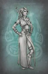 Ciri in Ursine armor by phoenixz38
