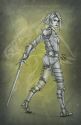 Ciri in Griffin armor by phoenixz38