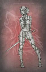 Ciri in Wolf armor by phoenixz38