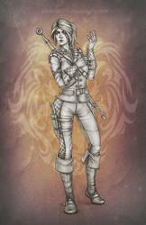 Ciri in Manticore armor by phoenixz38