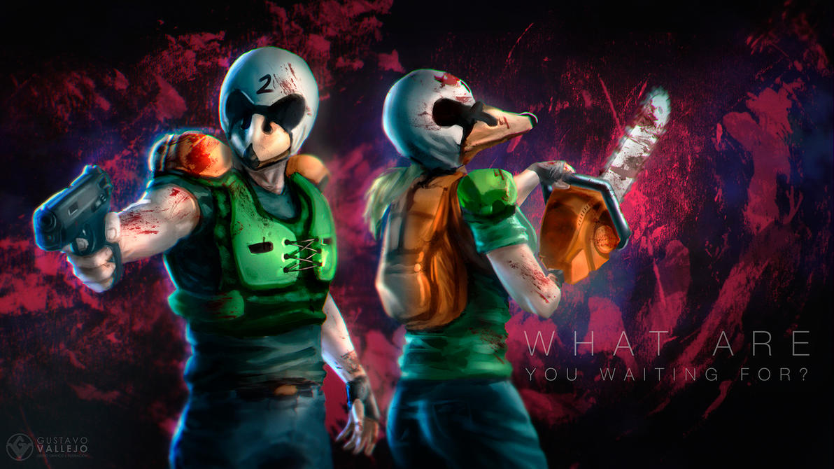 Hotline Miami - Alex and Ash by DarkeDny