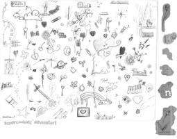 Doodle Brush Set 1 by SuperCookiez