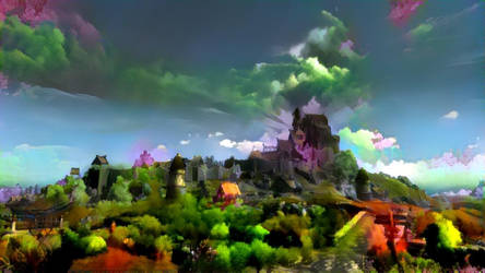 Painted Whiterun by skyrimphotographer