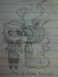 Chibi Finn x Flame Princess