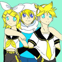 Kagamine Twins and Finn The Human