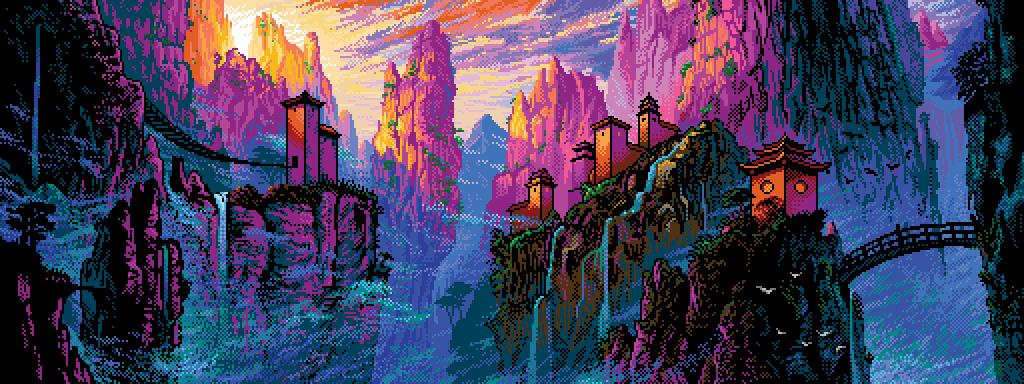 Pixel China Mountains By Retronator On Deviantart