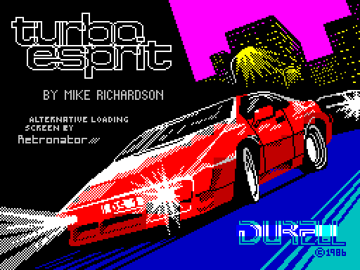 Turbo Esprit Alternative Loading Screen by Retronator
