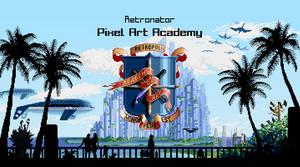 Pixel Art Academy Title Screen