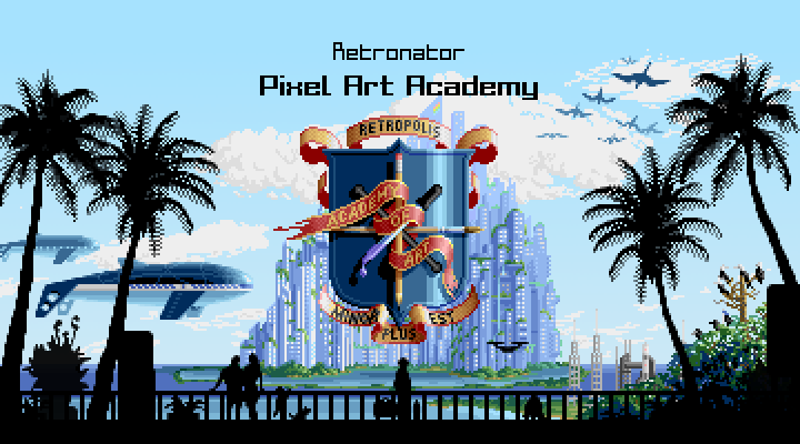 Pixel Art Academy Title Screen by Retronator