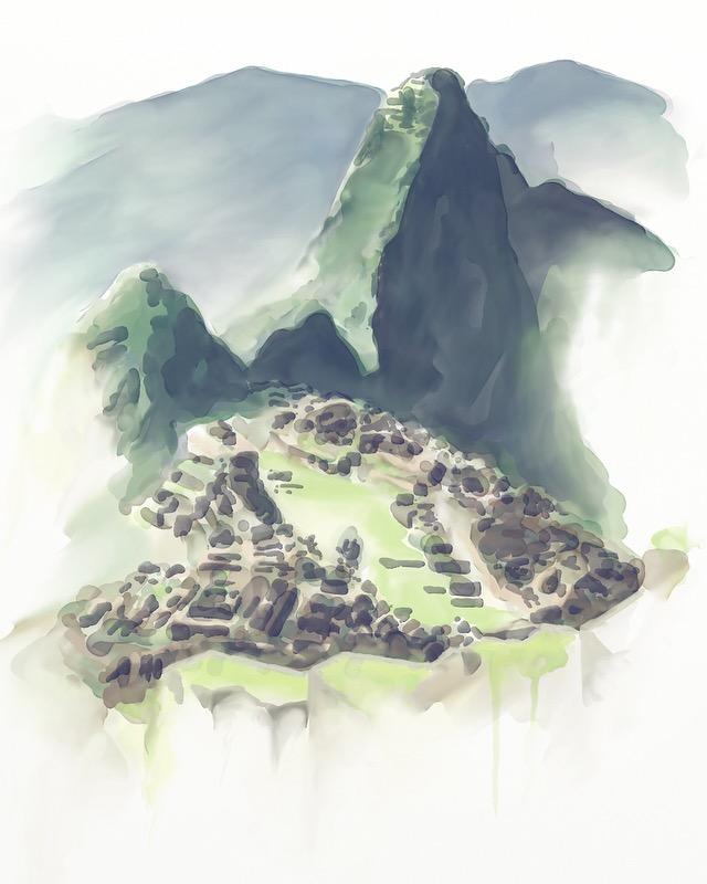 Machu Picchu by Retronator
