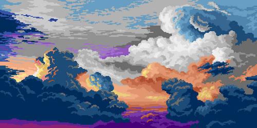 Clouds practice #1 by Retronator